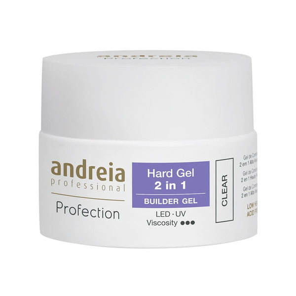 Andreia Professional Profection Hard Gel 2 in 1 – Clear – 44g - Olympia Beauty Online Store