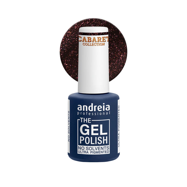 Andreia Professional – The Gel Polish – Solvent Free Gel – CC3 Black Glitter - Olympia Beauty Online Store