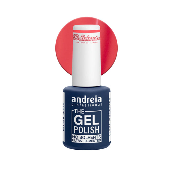 Andreia Professional – The Gel Polish – Solvent Free Gel – DC1 Neon Coral - Olympia Beauty Online Store