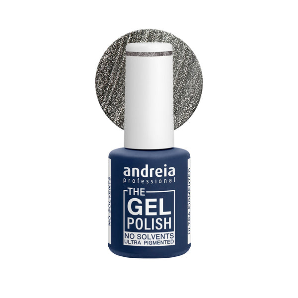 Andreia Professional – The Gel Polish – Solvent Free Gel – G39 Metallic Silver - Olympia Beauty Online Store