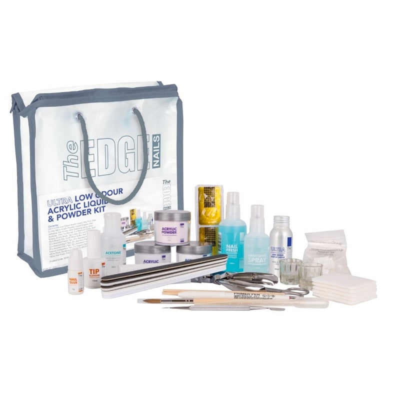 The Edge Ultra Low Odour Acrylic Liquid & Powder Kit - Olympia Beauty Online Store