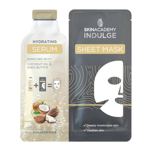 Skin Academy Hydrating Serum Sheet Mask - Coconut Oil & Shea Butter