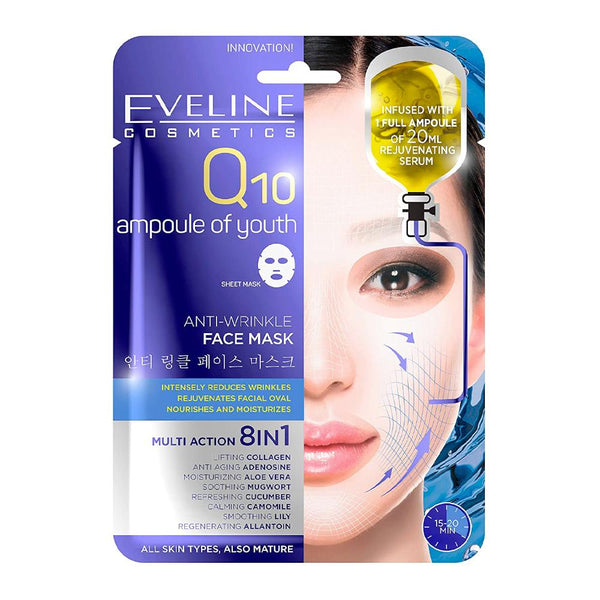 Eveline Q10 Ampoule of Youth Anti-Wrinkle Face Mask