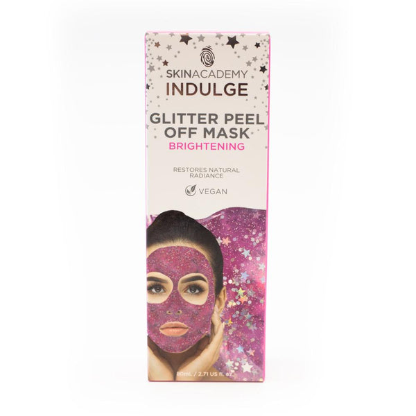 Skin Academy Indulge Vegan Brightening Glitter Peel Off Mask