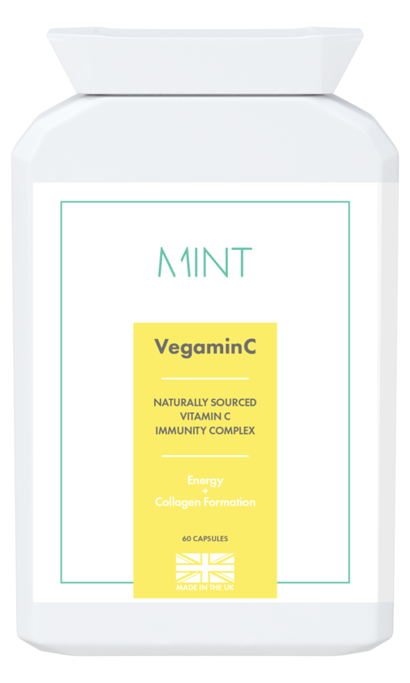 VegaminC - food-form Vitamin C - 60 capsules - Olympia Beauty Online Store