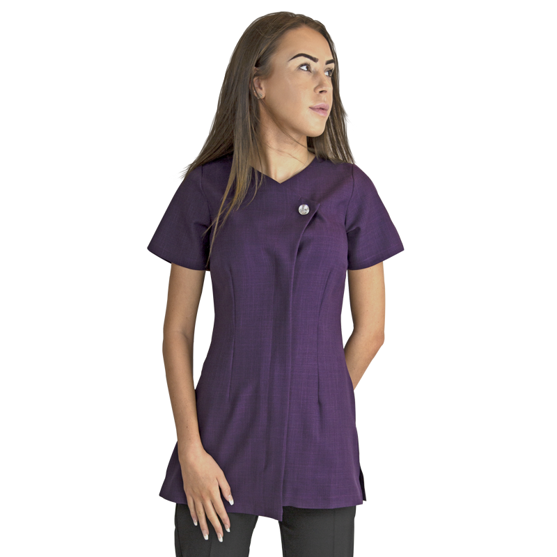 Chelsea Tunic Aubergine with Diamante Button - Olympia Beauty Online Store