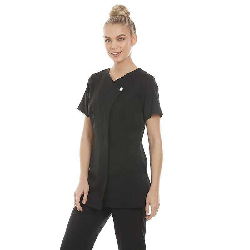 Chelsea Tunic Black with Diamante Button - Olympia Beauty Online Store