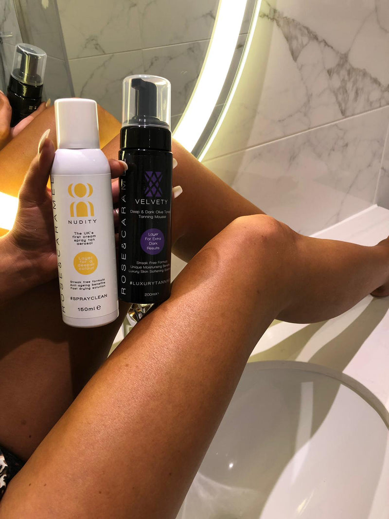 Start To Finish Bundle with Velvety Dark Olive Tanning Mousse - Olympia Beauty Online Store