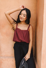 Eyelet You Know Camisole In Burgundy