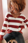Rust & Relaxation Striped Sweater