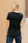 Side Strap Tee in Black