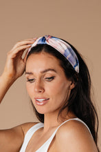 Tie Dye The Knot Headband In Pink & Purple