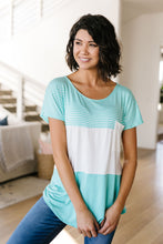 Block Party Top In Aqua