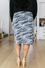 Camo Drawstring Casual Skirt