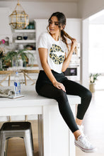 Cropped Leopard Lips Graphic Tee