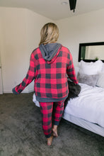 Faded Plaid Hoodie