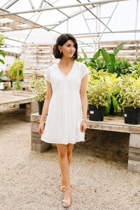 Full Circle Eyelet & Pom Pom Dress
