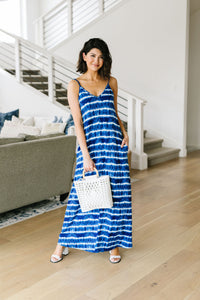 Ocean Tides Tie Dye Maxi Dress