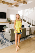 Tiered Tank Top In Citron