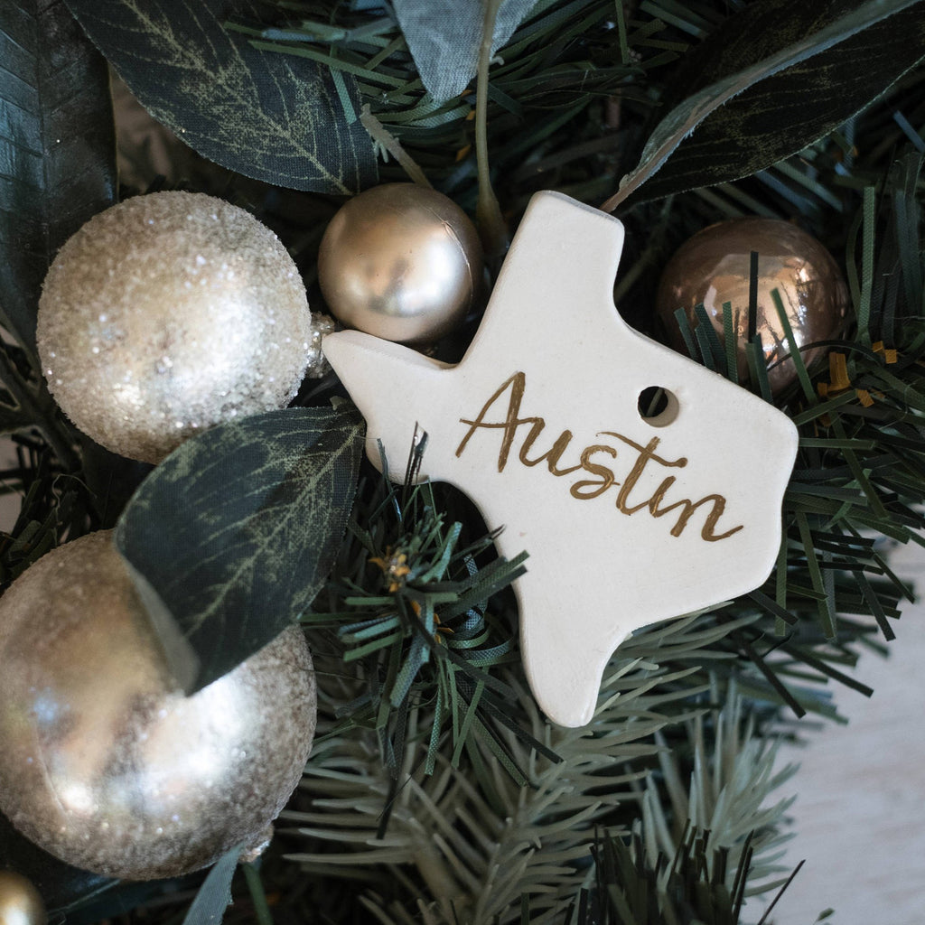 Personalized Texas Christmas Tree Ornament
