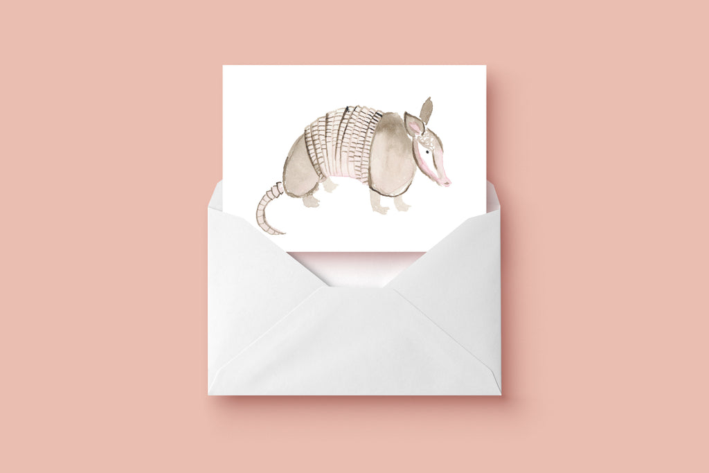 Armadillo Card, Texas Greeting Card