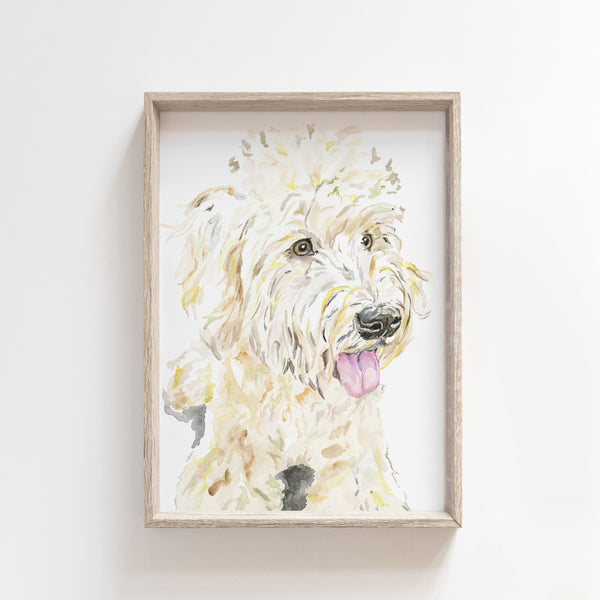 Wheaton Terrier Giclée Watercolor Print