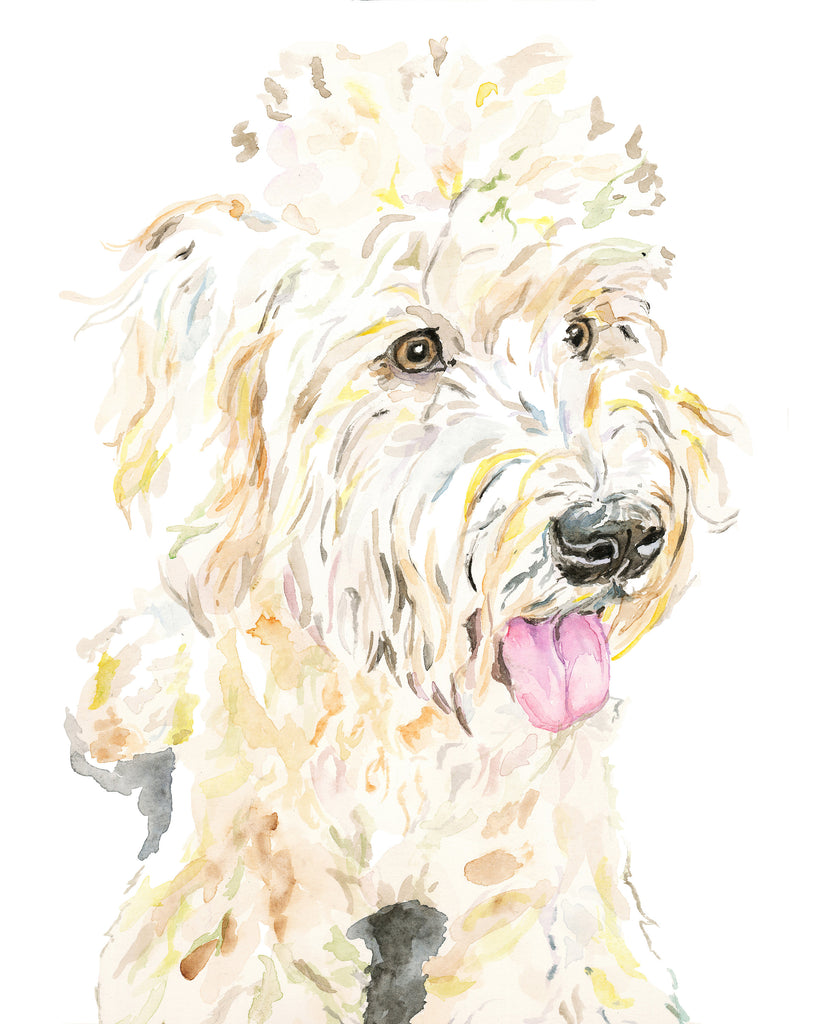 Wheaton Terrier Watercolor Print, Wheaton Terrier Giclée Print, Wheaton Terrier Wall Art, Wheaton Gift, Dog Lover Gift, Giclée Dog Art Print