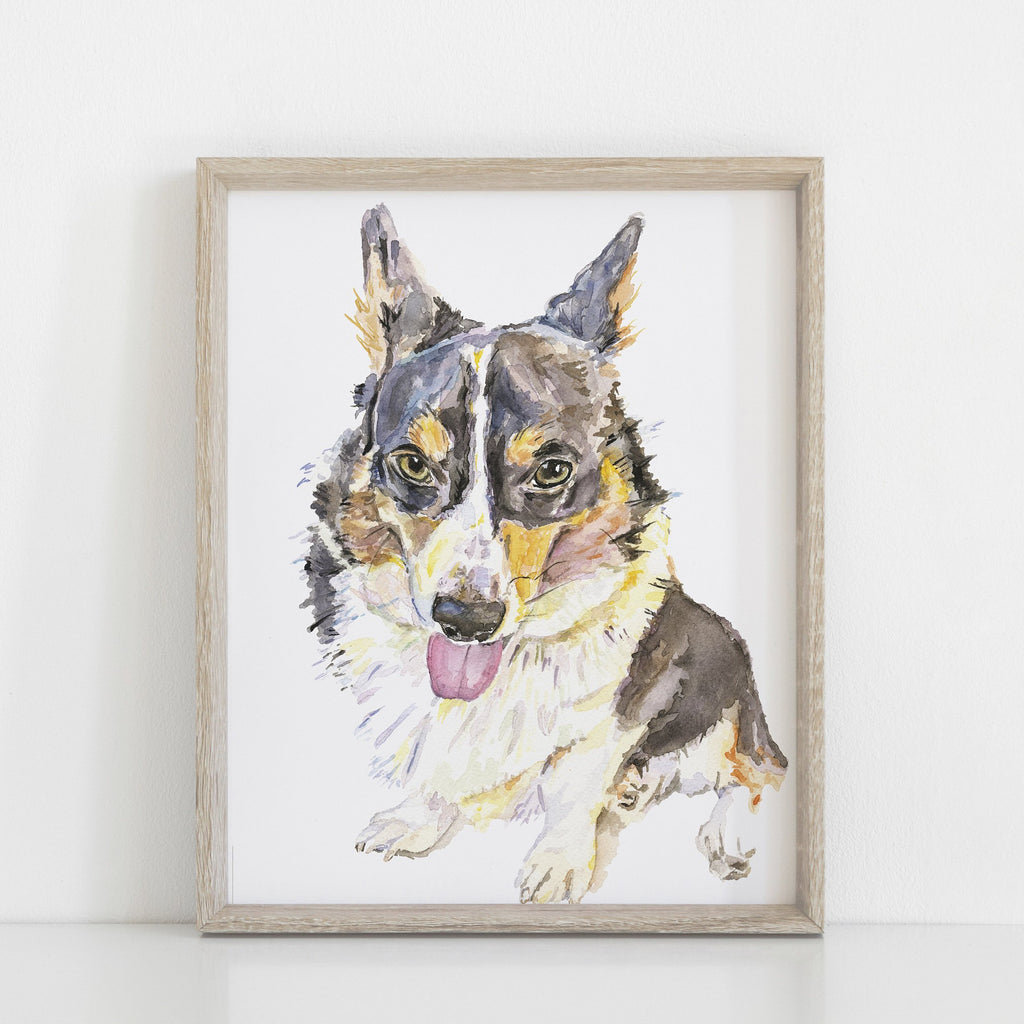Cardigan Corgi Watercolor Wall Art