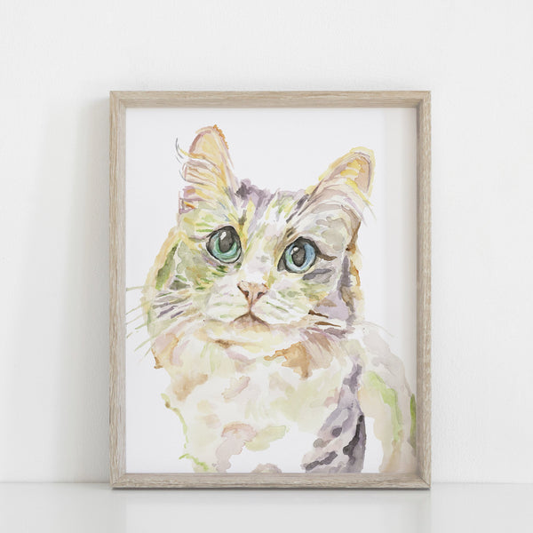 Persian Angora Cat Art Print