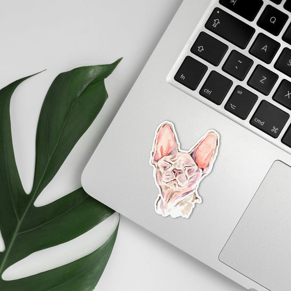 Sphynx Hairless Cat Vinyl Sticker