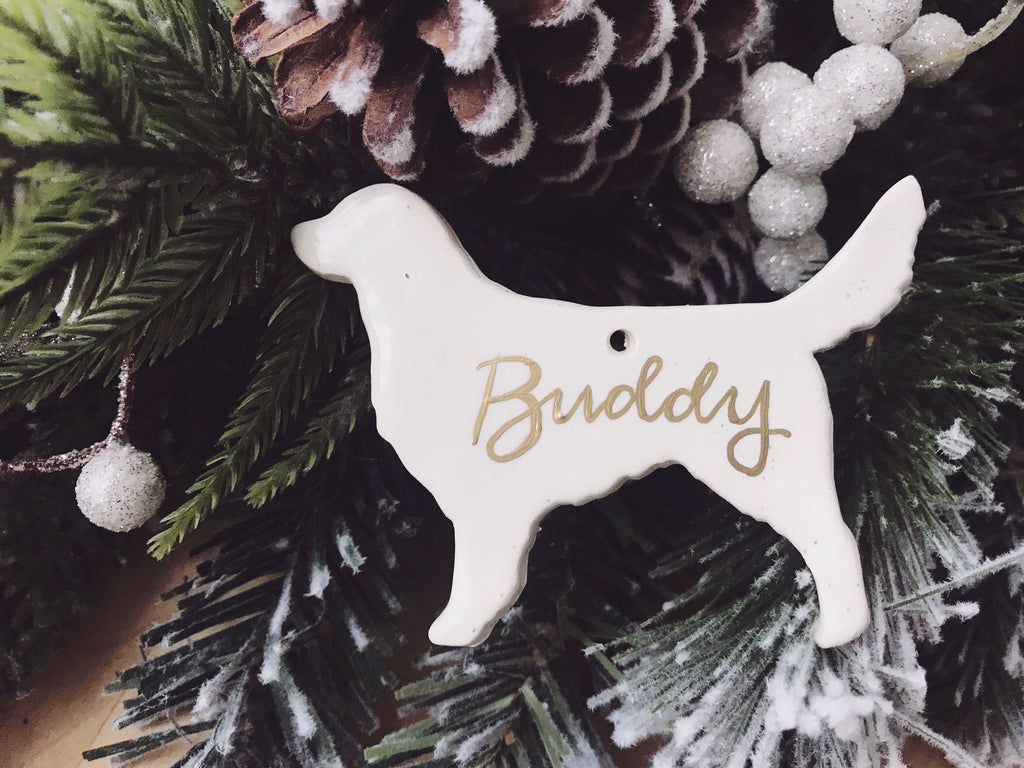 Golden Retriever Ornament, Personalized Dog Christmas Ornament, Dog Ornament, Dog Breed Ornament, Personalized Dog Ornament, Retriever Mom