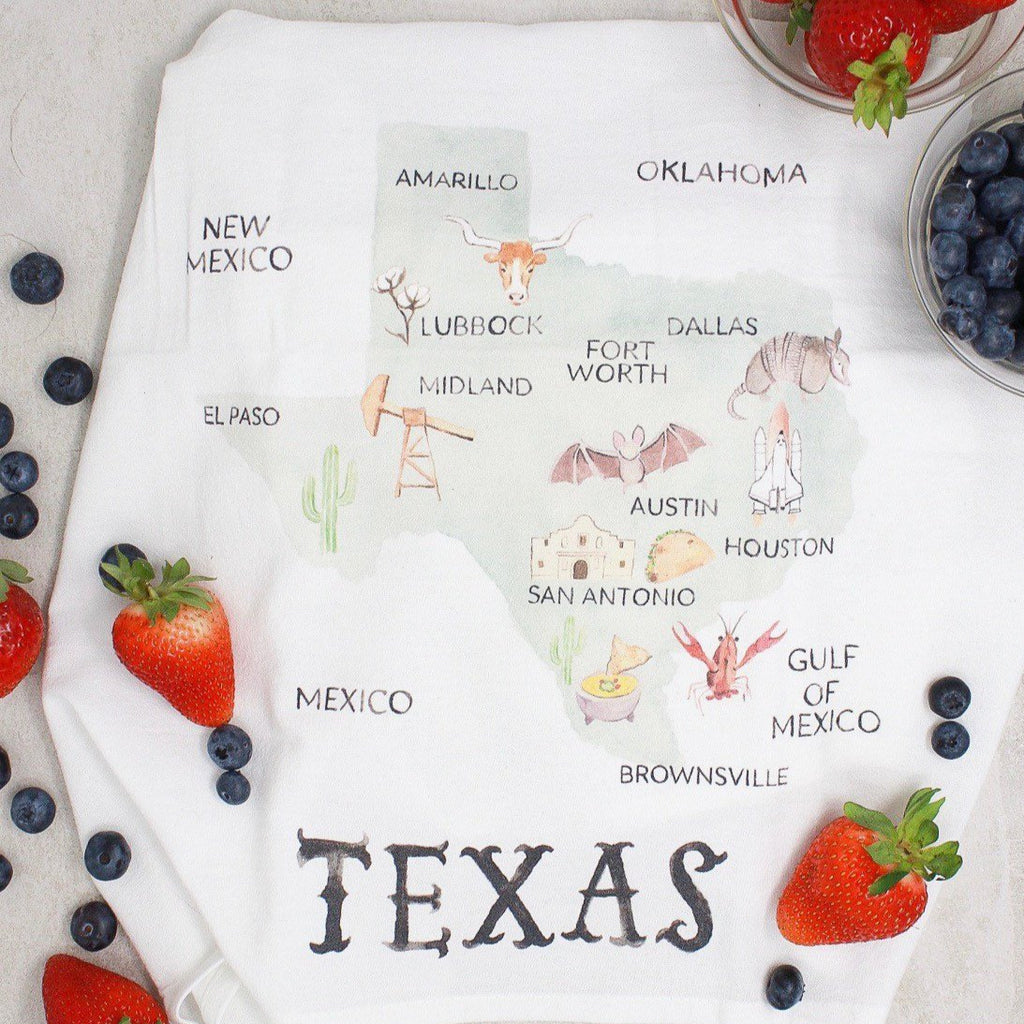 Texas Kitchen Towel - Blue