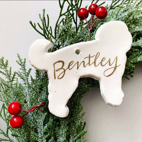 Personalized Golden Doodle Ornament