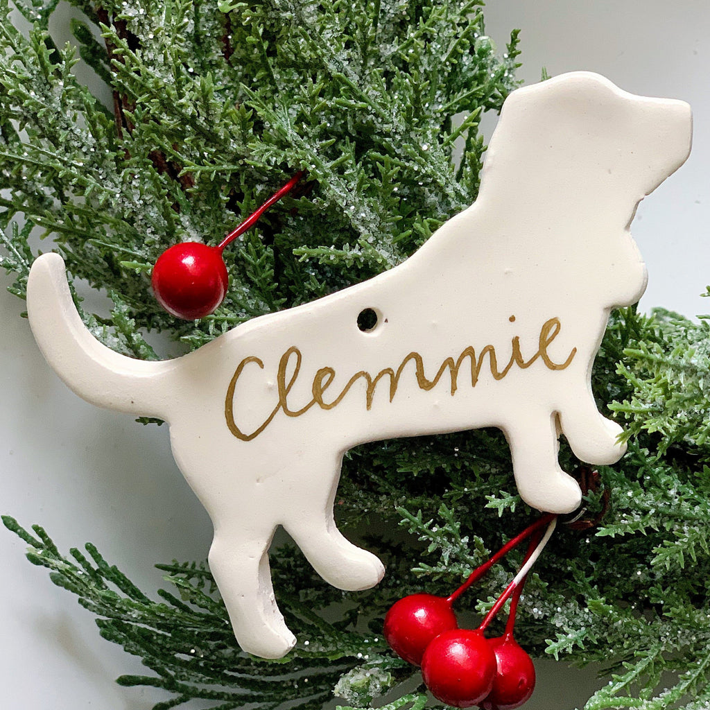 Personalized Basset Hound Ornament, Pet Memorial Ornament, Customized Dog Christmas Tree Ornament, Basset Hound Gift