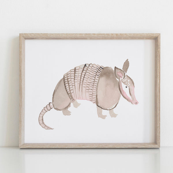 Armadillo Art, Texan Wall Art, Texas Art Print, Texas Wall Art, Texan Gift, 8x10 print
