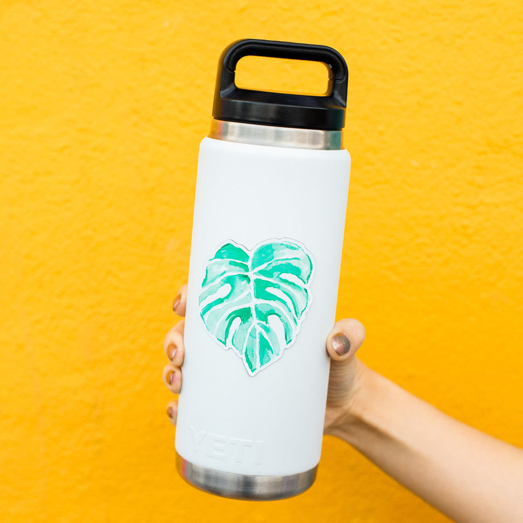 Monstera Sticker, Plant Lady Sticker, Botanical Leaf Sticker, Tropical Plant Decal, Water Bottle Sticker, Tumbler Sticker, Computer Stickers