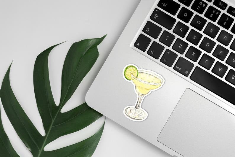 Margarita Vinyl Sticker, Margarita Decal, Laptop Sticker, Water Bottle Decal, Tequila Cocktail, Mexico Bachelorette Party Favor
