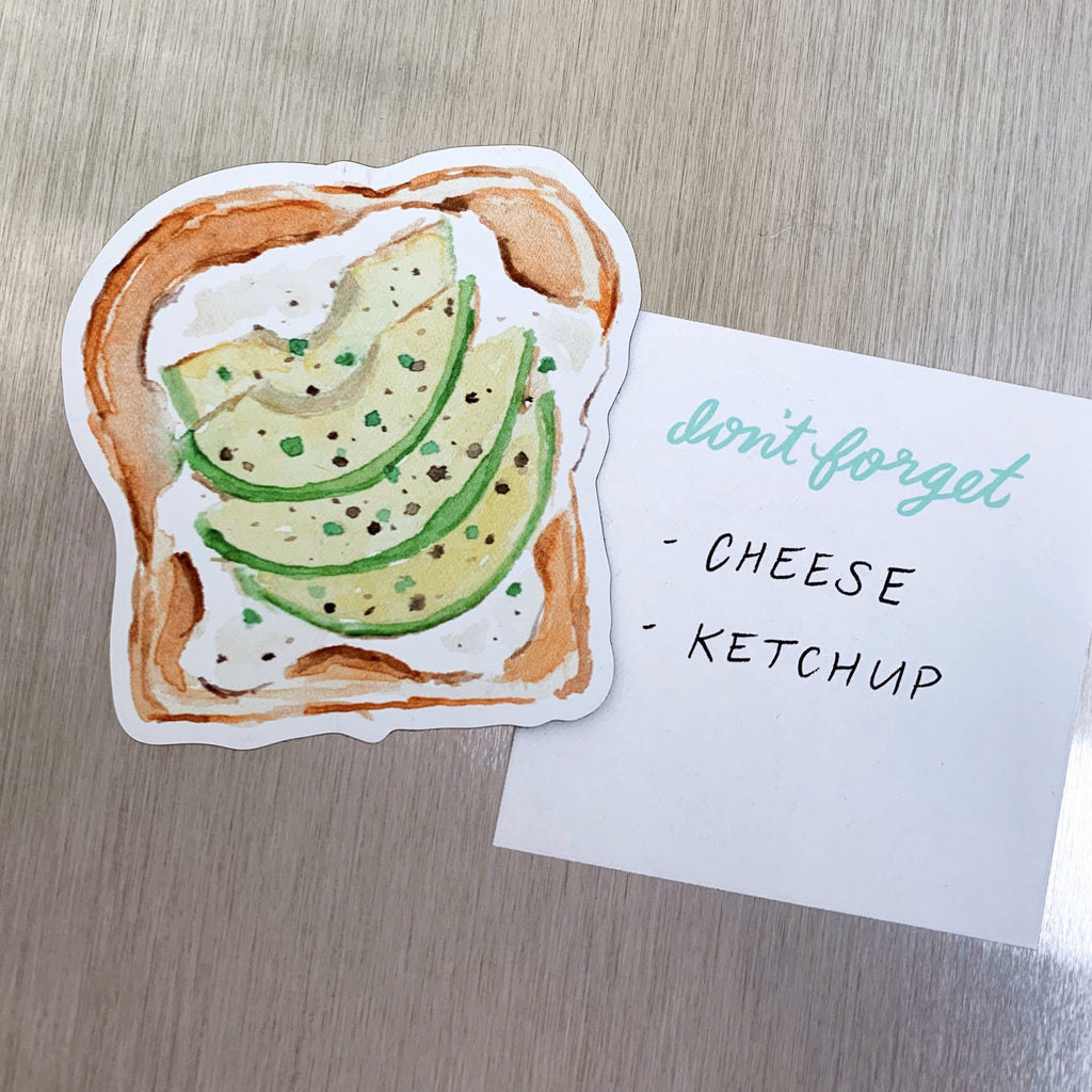 Avocado Toast Fridge Magnet