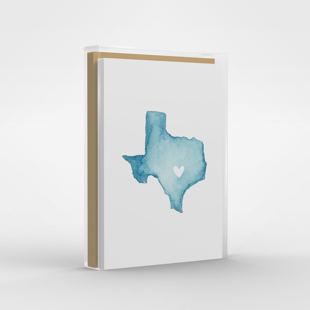 Texas Greeting Card Set, Illustrated Texas Note Card Set, Austin Texas Gift, Stationery Set of 6 Cards
