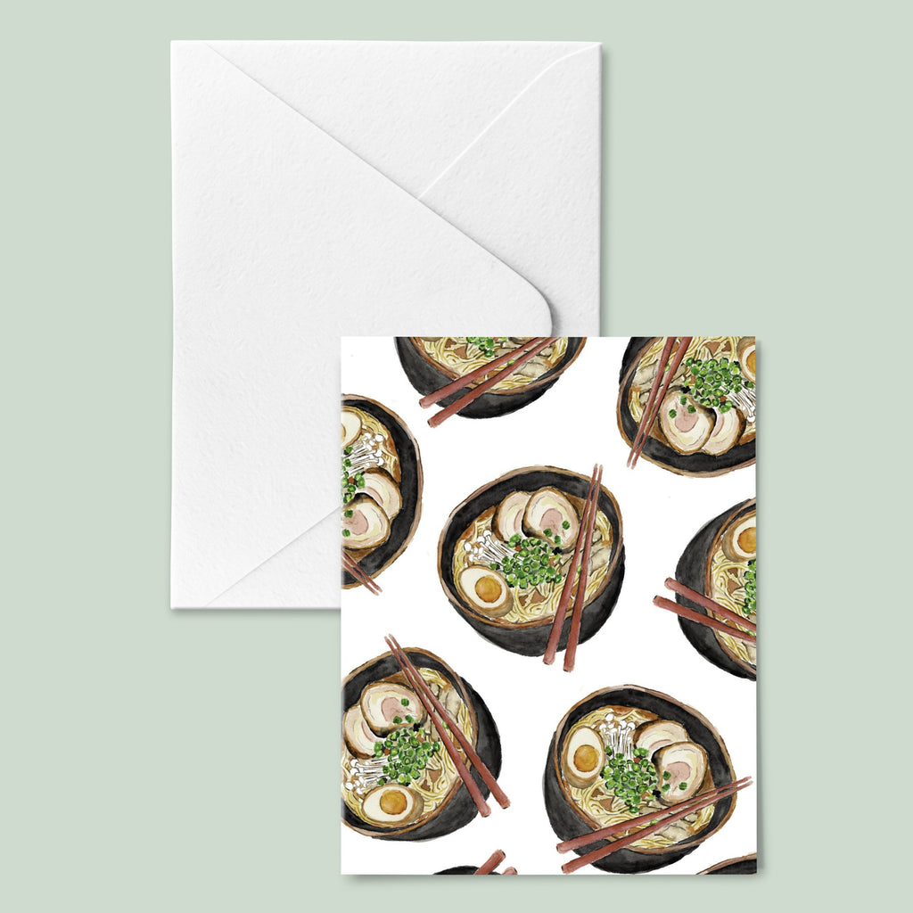 Ramen Noodle Greeting Card