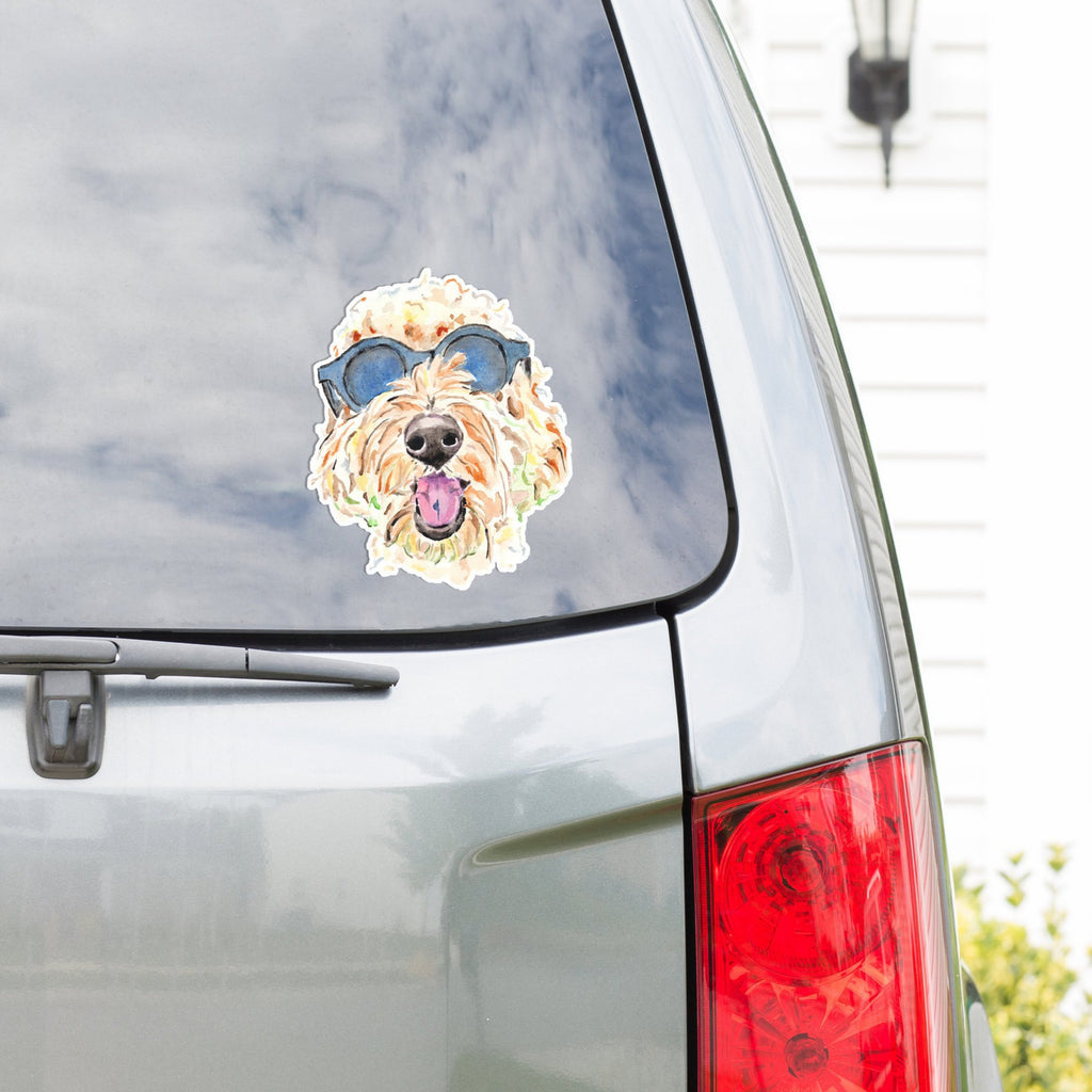 Goldendoodle Vinyl Decal, Golden Doodle Dog Car Decal, Labradoodle Vinyl Sticker
