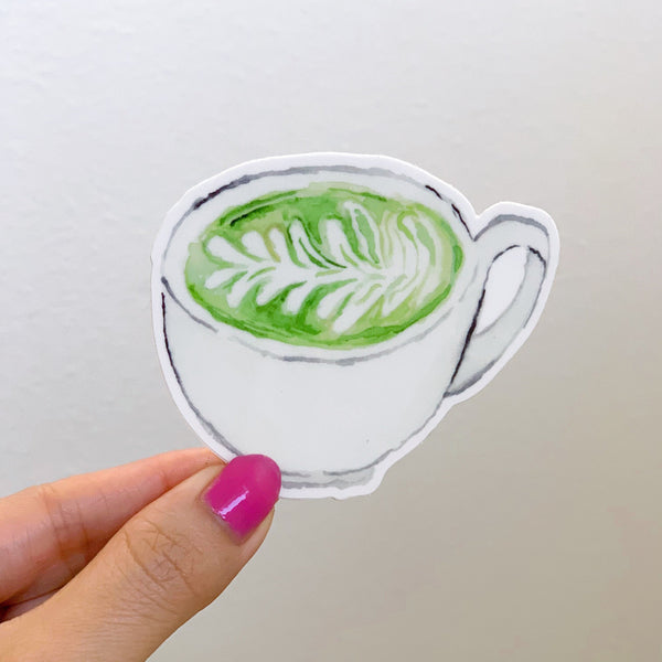 Matcha Green Tea Waterproof Sticker