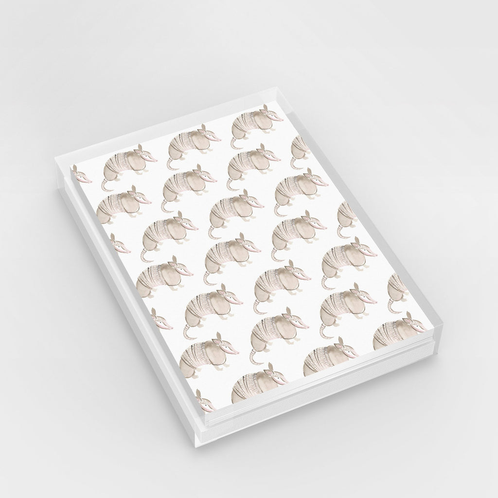 Armadillo Pattern Texas Greeting Card Set