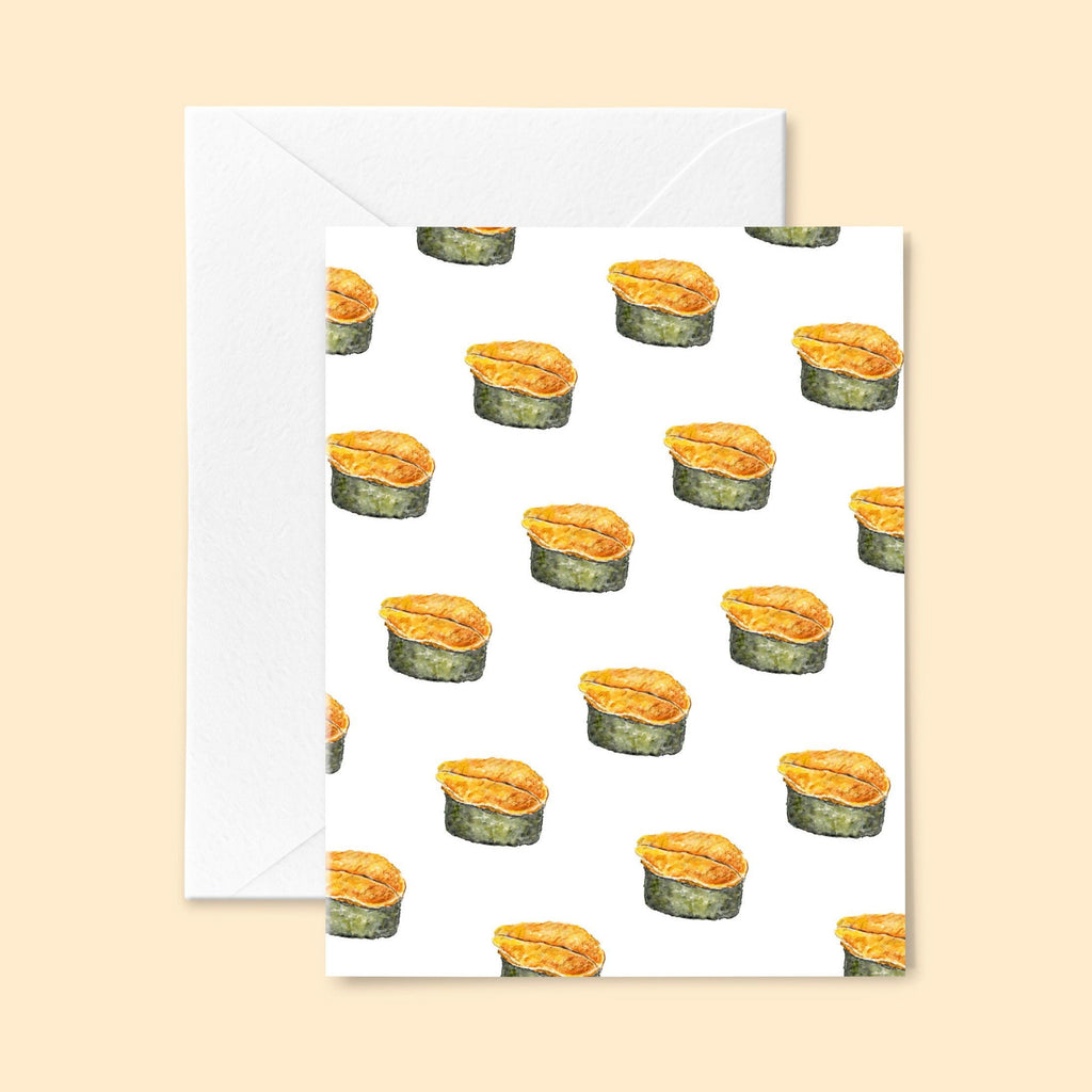 Uni Sushi Greeting Card