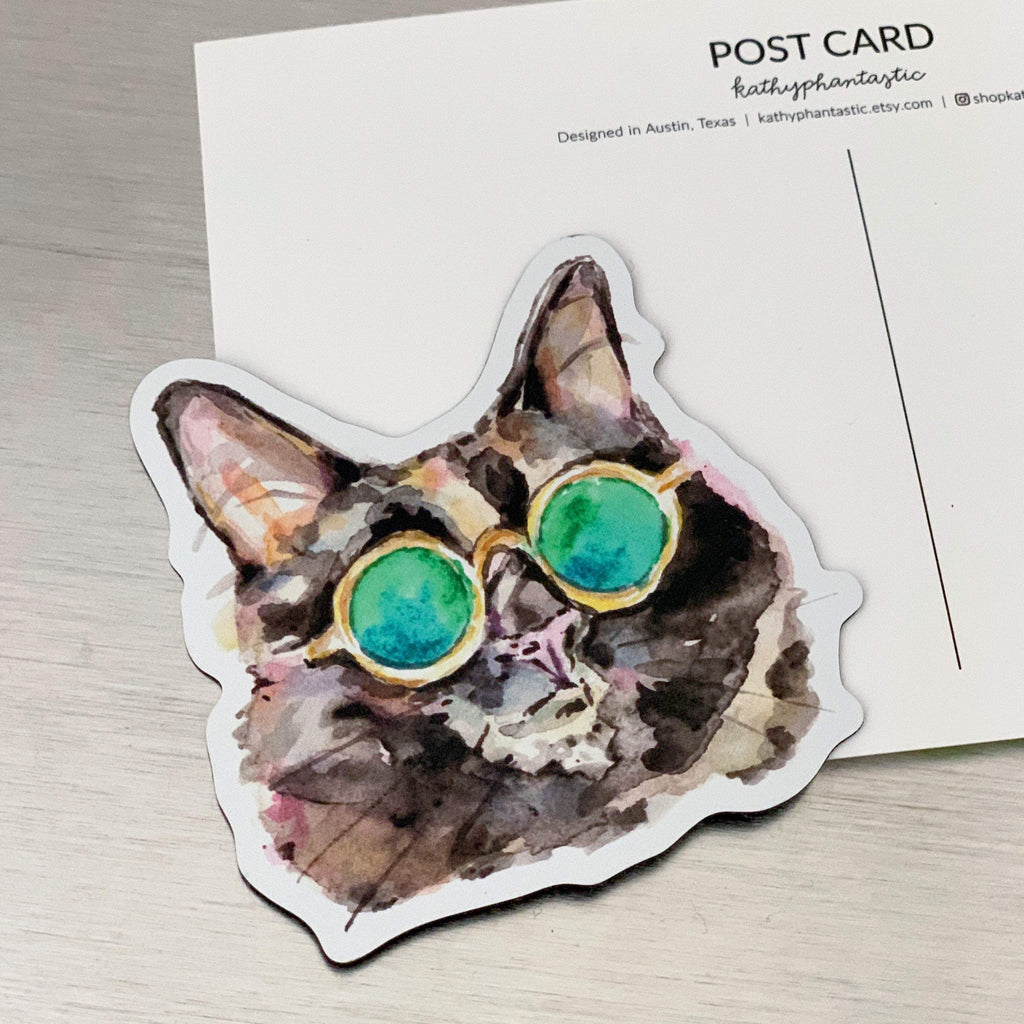 Cute Sunglasses Cat Fridge Magnets