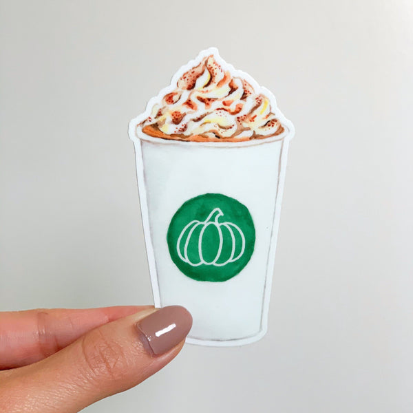 Pumpkin Spice Latte Sticker, PSL Sticker, Fall Vinyl Stickers