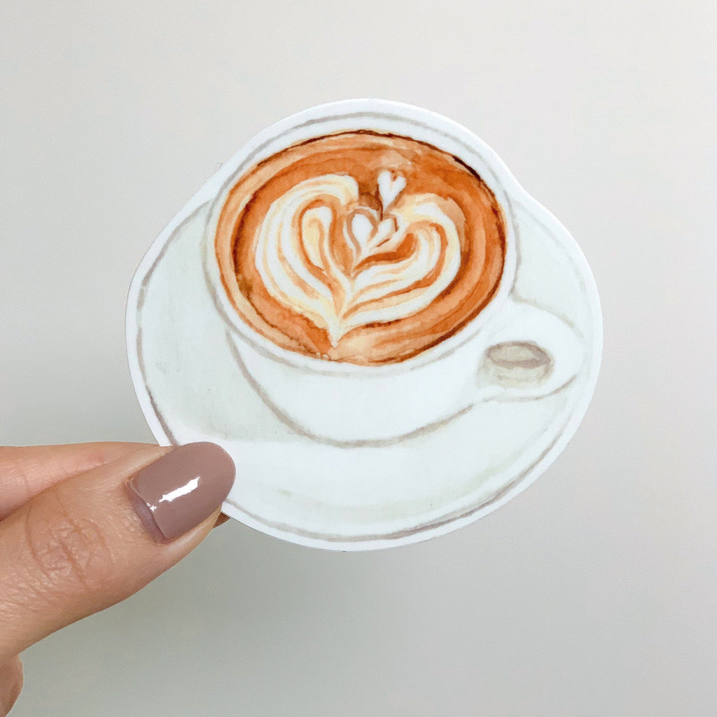 Hot Coffee Latte Refrigerator Magnet