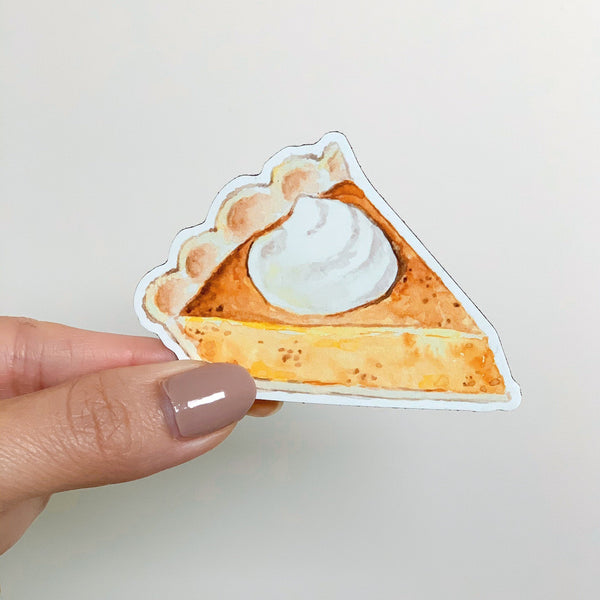 Pumpkin Pie Sticker, Fall Vinyl Sticker, Autumn Stickers, Cute Stickers
