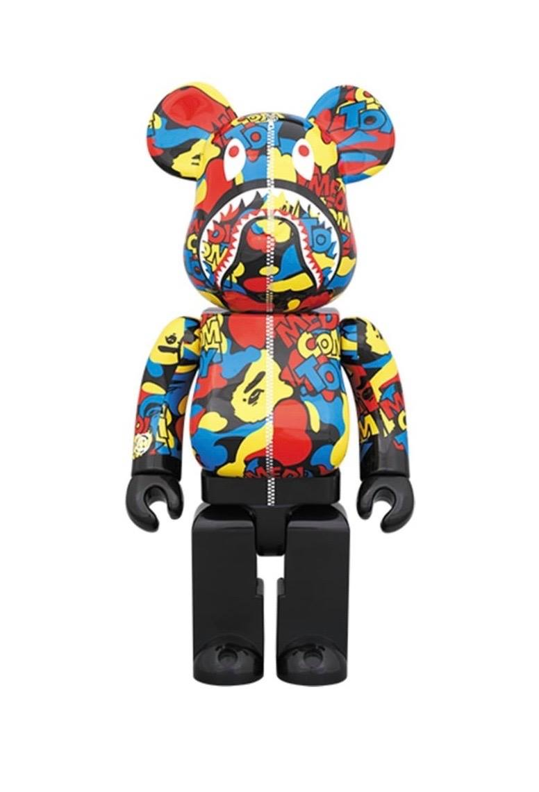 Bearbrick Camo Shark 400%