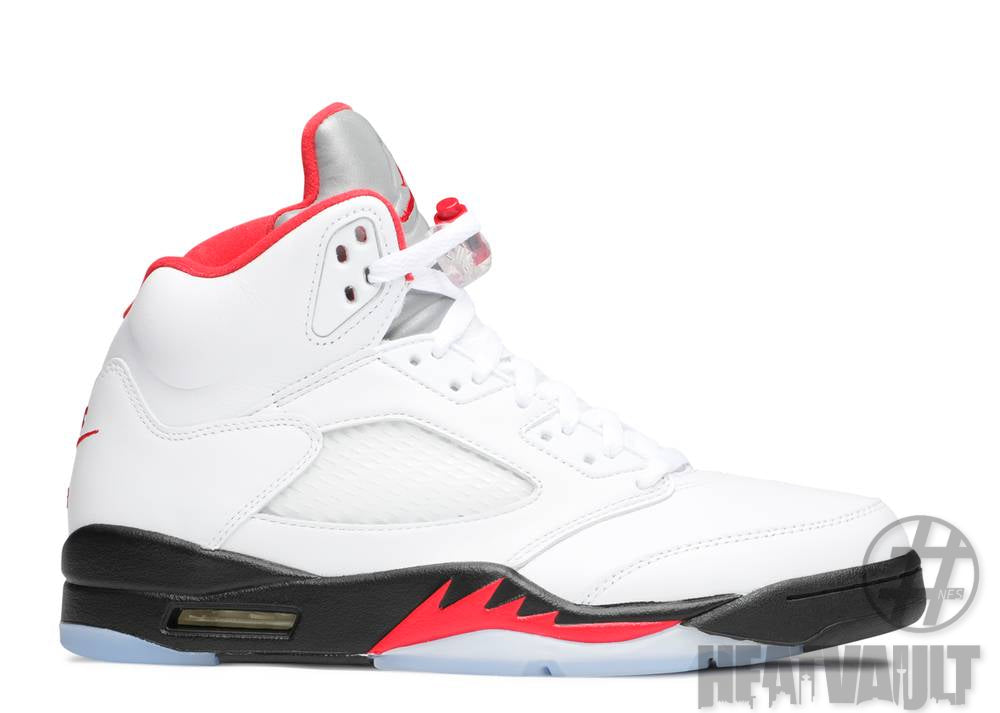 Air Jordan 5 Retro Fire Red Silver Tongue (2020)